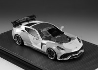 1/43 VOITURE MINIATURE DE COLLECTION Chevrolet Corvette DarwinPRO blacksails Widebody blanc-2016-GLM200002
