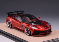 1/43 CHEVROLET CORVETTE MINIATURE DE COLLECTION Chevrolet Corvette Darwin Pro BlackSails Widebody rouge foncé - version détaillée-GLM200004