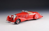 1/43 VOITURE MINIATURE DE COLLECTION CABRIOLETS Mercedes 540 K roadster Mayfair rouge-1937-GLM207501