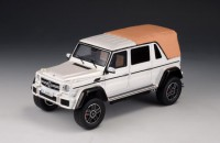 1/43 VOITURE MINIATURE DE COLLECTION 4X4 Mercedes G 650 Maybach cabriolet fermé blanc-2017-GLM207602