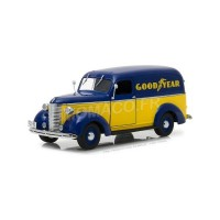 "1/24 UTILITAIRES PUBLICITAIRE CHEVROLET PANEL TRUCK 1939 ""GOODYEAR TIRES""GREENLIGHTGREEN18243"