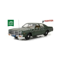 "1/18 VOITURE MINIATURE DE CINEMA DODGE MONACO 1977 ""RICK HUNTER (1984-1991)""GREENLIGHTGREEN19045"