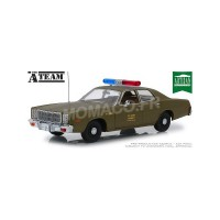 "1/18 PLYMOUTH FURY 1977 ""L'AGENCE TOUS RISQUES (1983-1987) - US ARMY POLICE""GREENLIGHTGREEN19053"
