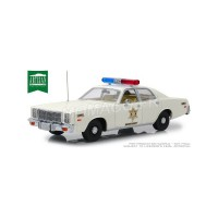 1/18 PLYMOUTH VOITURE DE CINEMA FORCES DE L'ORDRE POLICE PLYMOUTH FURY 1977 HAZARD COUNTY SHERIFF-GREENLIGHTGREEN19055