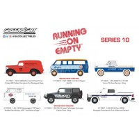 1/64 3-INCHES VÉHICULES MINIATURE DE COLLECTION COFFRET 6 RUNNING ON EMPTY - SERIES 10-GREENLIGHT GREEN41100