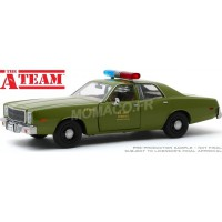 "1/24 PLYMOUTH FURY 1977 ""L'AGENCE TOUS RISQUES (1983-1987) - US ARMY POLICE""GREENLIGHT GREEN84103"