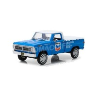 "1/24 FORD UTILITAIRES PUBLICITAIRES FORD F-100 TRUCK 1972 AVEC COUVRE-LIT ""CHEVRON FULL SERVICE""GREENLIGHTGREEN85013"