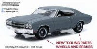 "1/18 CHEVROLET CHEVELLE SS 1970 ""FAST AND FURIOUS 4 (2009)"" GRIS-GREENLIGHTGREEN12946"