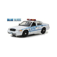 "1/18 VEHICULES FORCES DE L'ORDRE FORD CROWN VICTORIA ""NEW YORK POLICE DEPARTMENT"" (NYPD) 2001 ""BLUE BLOODS -GREENLIGHTGREEN13513"