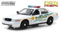 "1/18 FORD CROWN VICTORIA POLICE INTERCEPTOR 2003 ""LES EXPERTS - MIAMI (2002-2012) - DADE POLICE""GREENLIGHTGREEN13514"