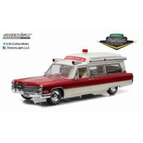 1 18 ambulance miniature cadillac s s 48 high top 1966 ambulance greenlight vente de voitures. Black Bedroom Furniture Sets. Home Design Ideas