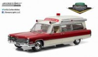 1/18 AMBULANCE MINIATURE CADILLAC S&S 48 HIGH TOP 1966 AMBULANCE-GREENLIGHT