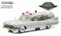 1/18 AMBULANCE MINIATURE CADILLAC S&S 48 HIGH TOP 1966 AMBULANCE-GREENLIGHTGREENPC18004