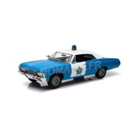 "1/18 CHEVROLET BISCAYNE ""CITY OF CHICAGO POLICE DEPARTMENT"" 1967-GREENLIGHTGREEN19009"