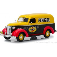 "1/24 CHEVROLET PANEL TRUCK 1939 ""PENNZOIL""GREENLIGHTGREEN85021"