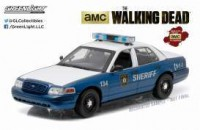 "1/18 FORCES DE L'ORDRE FORD CROWN VICTORIA 2001 POLICE INTERCEPTOR ""THE WALKING DEAD - RICK ET SHANE"" - RADIOCOMMANDE-GREENLIGHTGREEN91004"