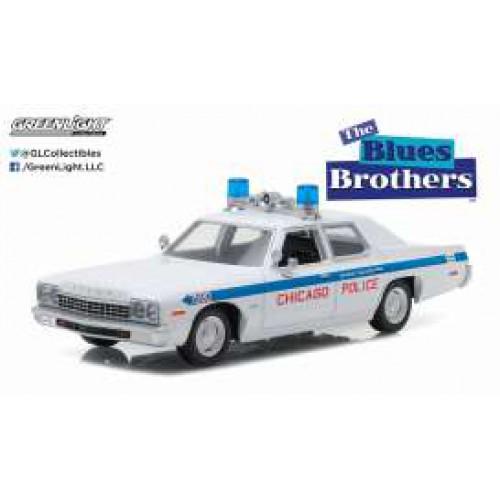 1 24 voiture de police dodge monaco police 1975 blues brothers 1980 greenlight vente de. Black Bedroom Furniture Sets. Home Design Ideas