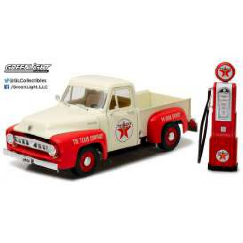 1 18 vehicule ford f 100 1953 texaco avec pompe a essence greenlightgreen12991 vente de. Black Bedroom Furniture Sets. Home Design Ideas