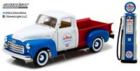 "1/18 GMC 150 1950 ""CHEVRON"" AVEC POMPE A ESSENCE-GREENLIGHTGREEN12992"