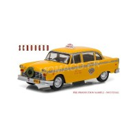 "1/43 CHECKER TAXI CAB 1978 ""SCROODED - FANTOMES EN FETE (1988) ""GREENLIGHT"