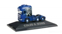 1/87 HO CAMION MINIATURE DE COLLECTION Scania R TL 6x2 Coles & Sons customs-HERPA
