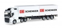 1/87 HO CAMION MINIATURE Volvo FH GI XL 6x2 container semi DB Schenker-HERPA