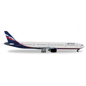 "1/200 AVION MINIATURE DE COLLECTION Boeing 777-300ER Aeroflot ""M.Kutuzov-HERPAHER556552"