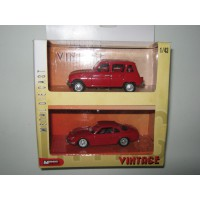 1/43 LOT 2 VOITURES RENAULT 4L+RENAULT ALPINE MONDOMOTORS