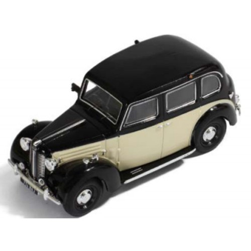 1 43 voiture miniature austin fx3 noir beige volant droite 1954 ixo models vente de. Black Bedroom Furniture Sets. Home Design Ideas