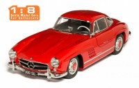 1/8 MERCEDES-BENZ VOITURE MINIATURE DE COLLECTION Mercedes 300 SL rouge-1954-IXO Premium-X-IXOPRD8-002B