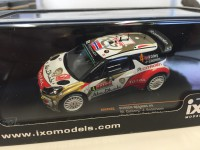 1/43 CITROEN DS3 WRC #4 MADS OSTBERG - JONAS ANDERSSON RALLY MONTE-CARLO 2014 (2ND)-IXOMODELS