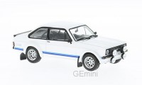 1/18 VOITURE MINIATURE DE COLLECTION Ford Escort MKII RS1800 blanc-1977-IXOMODELSIXO18CMC029