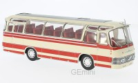 1/43 AUTOBUS AUTOCAR MINIATURE DE COLLECTION Neoplan NH 9L beige/rouge-1964-IXOMODELSIXOBUS011