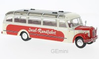 1/43 AUTOBUS/AUTOCAR MINIATURE DE COLLECTION Borgward BO 4000 beige/rouge-1952-IXOMODELSIXOBUS014
