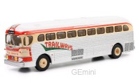 1/43 AUTOBUS/AUTOCAR MINIATURE DE COLLECTION GMC PD 3751 Trailways-1955-IXOMODELSIXOBUS015