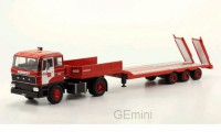 1/43 DAF CAMION MINIATURE DE COLLECTION DAF LOW-BOY REMORQUE-IXOMODELSIXOTTR012
