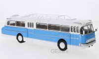 1/43 IKARUS AUTOBUS/AUTOCAR MINIATURE DE COLLECTION IKARUS 66 BLANC BLEU CLAIR 1972-IXOPREMIUM-X IXOBUS022