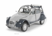 1/8 CITROËN VOITURE MINIATURE DE COLLECTION CITROËN 2CV CHARLESTON GRIS/NOIR-IXO PREMIUM-X IXOPR8-004B