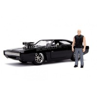 "1/24 DODGE CHARGER (STREET) 1970 ""FAST AND FURIOUS"" AVEC FIGURINE DOM TORETTO-JADA253205000"