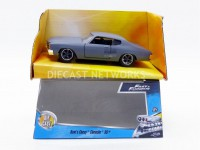 1/32 CHEVROLET CHEVELLE SS - DOM FAST AND FURIOUS-Gris-JADA TOYS 97379S