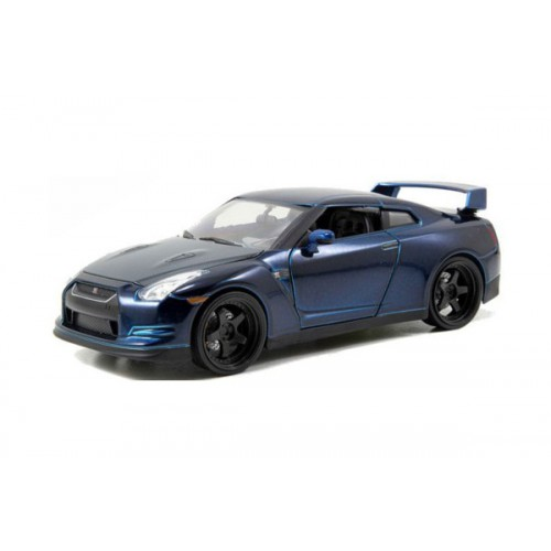 1 24 voiture miniature nissan gtr bleu fonc fast furious 7 2009 jadajda97036 vente de. Black Bedroom Furniture Sets. Home Design Ideas