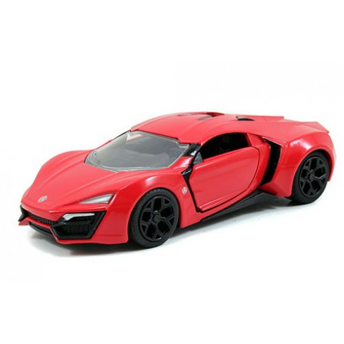 1 24 voiture miniature de collection lykan hypersport rouge furious 7 jadajda97377 vente de. Black Bedroom Furniture Sets. Home Design Ideas