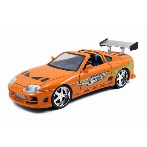 1 18 voiture miniature toyota supra orange m tallis fast furious 2005 jadajda97505 vente de. Black Bedroom Furniture Sets. Home Design Ideas