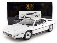1/12 BMW VOITURE MINIATURE DE COLLECTION BMW M1 - 1978-BLANC-KK SCALE MODELS-120012W