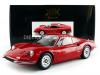 1/12 FERRARI VOITURE MINIATURE DE COLLECTION FERRARI DINO 246 GT - 1973-Rouge-KK SCALE MODELS 120021R