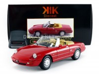 1/18 ALFA VOITURE MINIATURE DE COLLECTION ALFA-ROMEO SPIDER 4 - 1990-ROUGE-KK SCALE MODELS-180181R