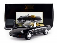 1/18 ALFA VOITURE MINIATURE DE COLLECTION ALFA-ROMEO SPIDER 4 - 1990-NOIR-KK SCALE MODELS-180182BK
