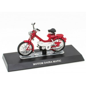 1/18 MOBYLETTE MOTOM MINIATURE DE COLLECTION Mobylette MOTOM DAINA MATIC-LEO MODELS