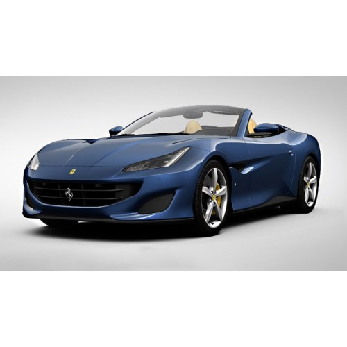1 18 voiture miniature de collection ferrari portifino cabriolet bleu tour de france 2017. Black Bedroom Furniture Sets. Home Design Ideas