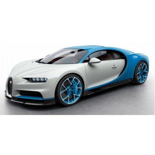 1 43 voiture miniature bugatti chiron bleu clair bugatti sport blanc glacier 2016 looksmart. Black Bedroom Furniture Sets. Home Design Ideas